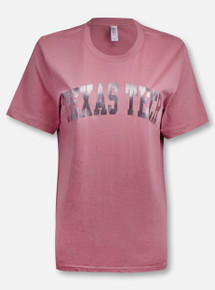 Texas Tech Red Raiders Classic Arch in Gun Metal Foil T-Shirt