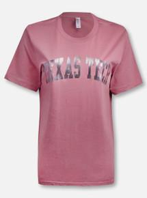 Texas Tech Red Raiders Classic Arch in Gun Metal Foil T-Shirt