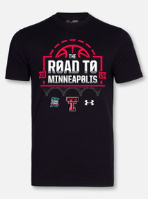 "Under Armour Texas Tech Basketball ""Road To Minneapolis"" Black Short Sleeve"