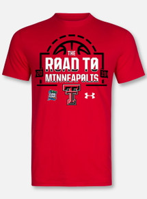 "Under Armour Texas Tech Basketball ""Road To Minneapolis"" Red Short Sleeve"