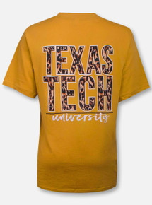 Texas Tech Red Raiders Stack in Leopard T-Shirt