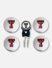 Team Golf Texas Tech Red Raiders Double T Divot Tool, Balls, and Ball Marker Gift Set