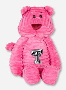Plush Riblet Pink Cat with Double T