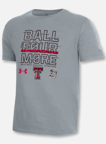 "Under Armour Texas Tech Basketball ""As Seen on TV"" Steel Heather Short Sleeve"