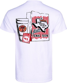 "Official Whataburger Texas Tech Basketball  ""What-a-baller"" White Short Sleeve"
