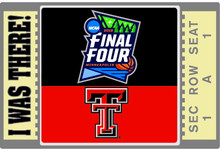 Texas Tech Red Raiders 2019 Final Four I was There Lapel Pin