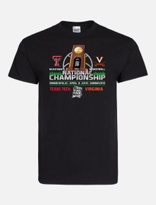2019 Texas Tech Red Raiders National Championship Black Gameday Short Sleeve