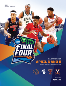 Texas Tech Red Raiders 2019 Final Four Official Gameday Program As Sold At U.S. Bank Stadium in Minneapolis (EXPECTED SHIP 4/19/19)