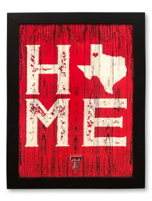 "Prints Charming Texas Tech Red Raiders ""Home"" Wall Decor"