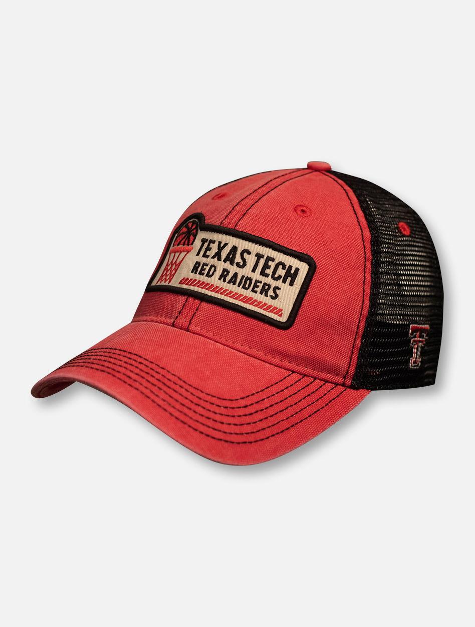 f4b357d3663 Texas Tech Red Raiders Basketball Hoop Patch Mesh Back Cap