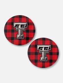 Texas Tech Red Raiders Plaid Car Coasters