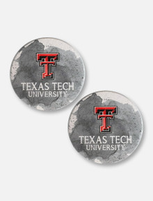 Texas Tech Red Raiders Double T Watercolor Car Coasters