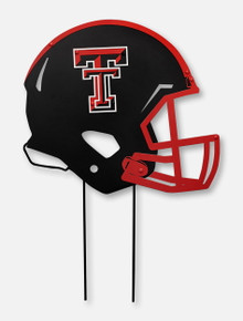 Texas Tech Red Raiders Metal Helmet on Stakes