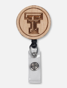 Texas Tech Red Raiders Wooden Badge Reel