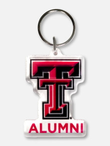 Texas Tech Red Raiders Double T over Alumni Keychain