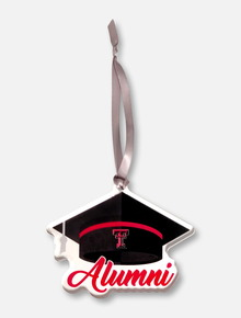 Texas Tech Red Raiders Double T Alumni with Graduation Cap Ornament