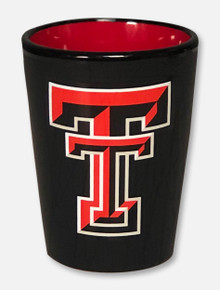 Texas Tech Red Raiders Double T Matte Black Shot Glass