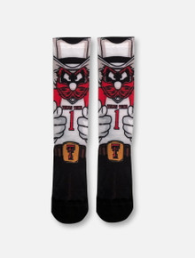 "Texas Tech Red Raiders Double T YOUTH Raider Red ""HyperOptic"" Socks"