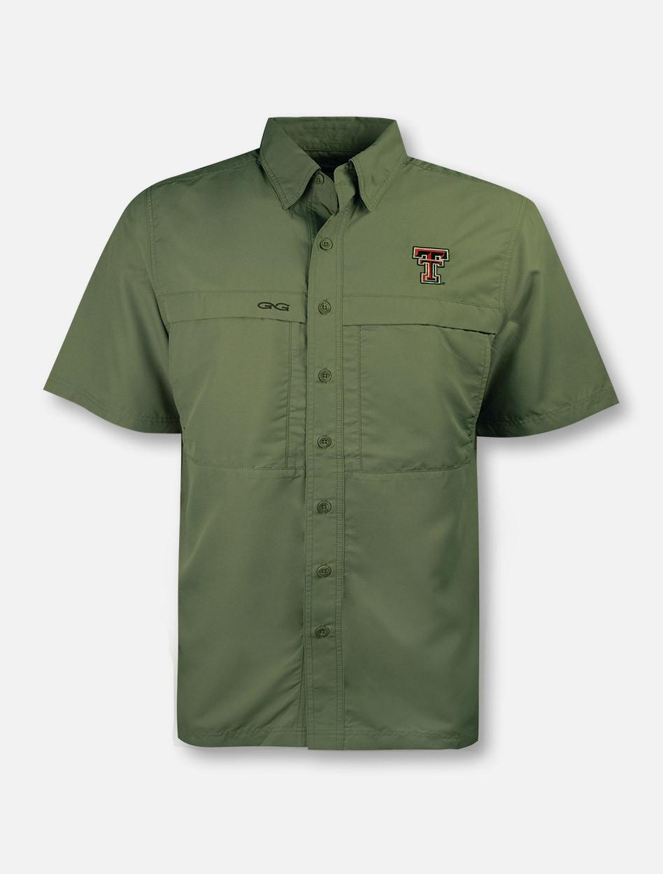 5cefbd88 Texas Tech Red Raiders Double T Microfiber Fishing Shirt