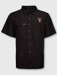 GameGuard Texas Tech Red Raiders Double T Microfiber Fishing Shirt