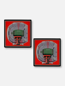 Texas Tech Red Raiders Double T 3D Stadium View 2 Pack Coaster Set