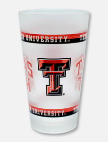 Texas Tech Red Raiders Double T Wrapped Frosted 16 oz. Pint Glass with Border