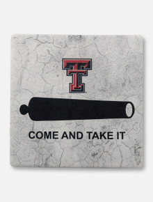 """Texas Tech REd Raiders Double T """"Come and Take It"""" with Cork Backing Coaster"""