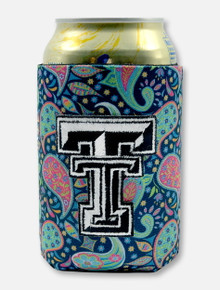Texas Tech Red Raiders Double T Paisley Can Cooler