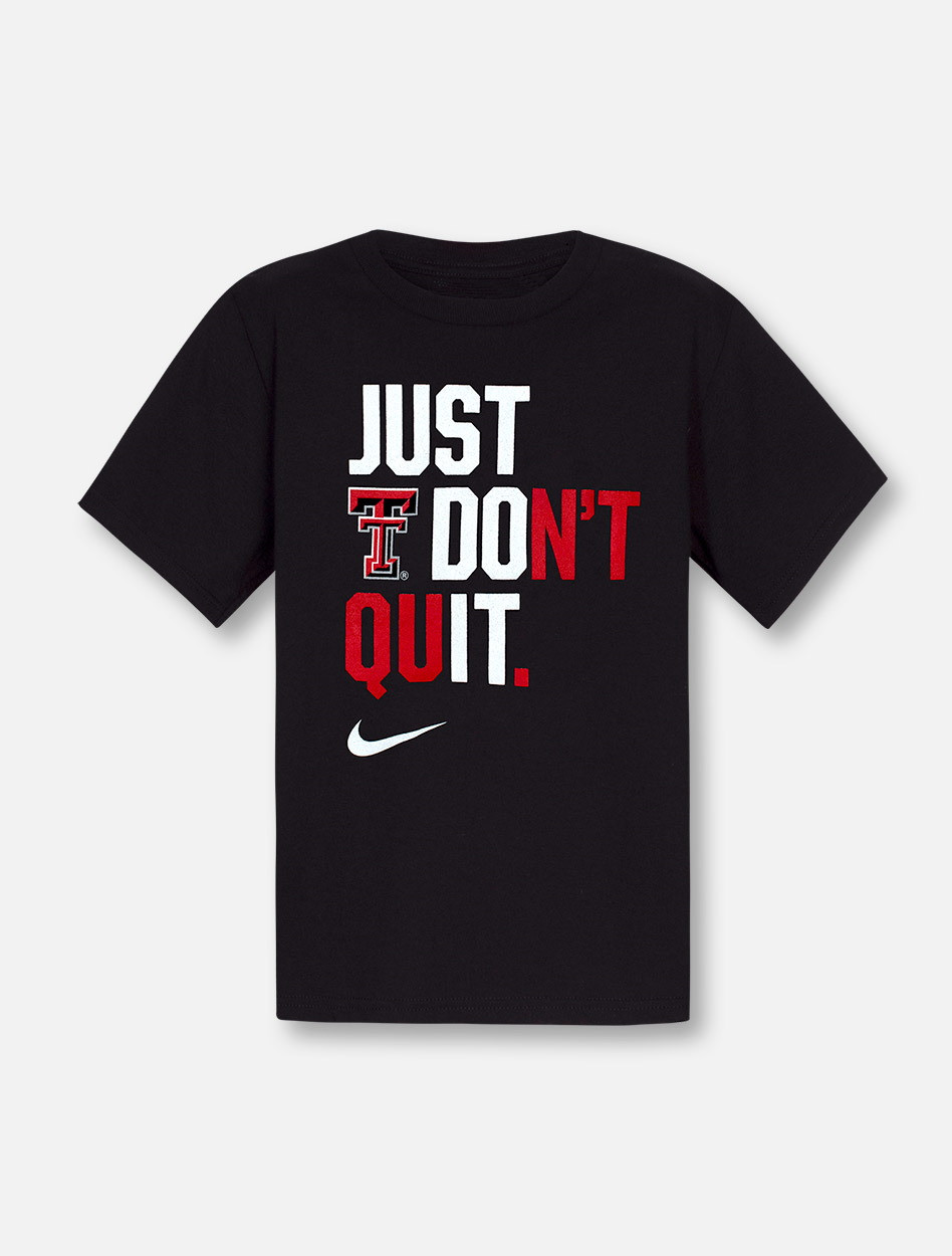 Nike Texas Tech Red Raiders Just Don T Quit Youth T Shirt