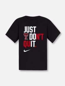 """Nike Texas Tech Red Raiders """"Just Don't Quit"""" YOUTH T-Shirt"""