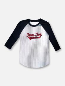 Little King Texas Tech 3/4 Sleeve Baseball Raglan YOUTH T-Shirt