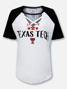 "Pressbox Texas Tech Red Raiders ""Abbie"" Criss-Cross Choker T-Shirt"