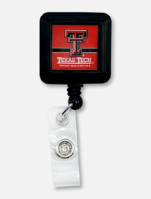 Texas Tech Red Raiders Double T Square Badge Reel Holder