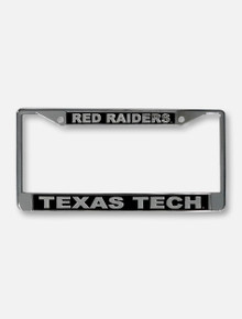 Texas Tech Red Raiders Black and Chrome License Plate Frame