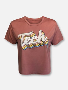 "Texas Tech Red Raiders Tech ""Sonic Wave"" Crop Top"