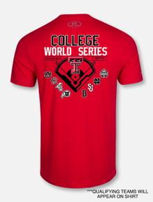 """Change Up"" Under Armour Texas Tech  2019 Men's Baseball CWS Red T-Shirt"