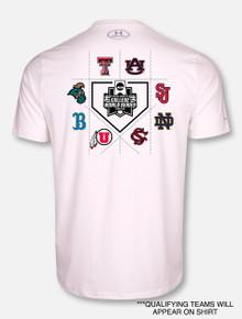 """Ground Ball"" Under Armour Texas Tech  2019 Men's Baseball CWS White T-Shirt"