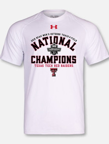 Under Armour Texas Tech National Champion Track White Charged Cotton Short Sleeve