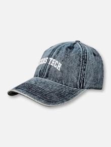 Texas Tech Navy Stone Washed Denim Arch Texas Tech Hat