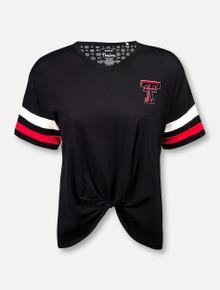 """Pressbox Texas Tech Red Raiders """"Knots"""" Fashion Top"""