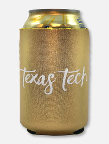 Texas Tech Red Raiders Script Gold Can Cooler