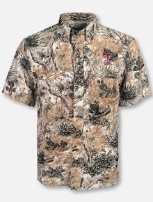 Gameguard Texas Tech Red Raiders Double T Camo Fishing Shirt