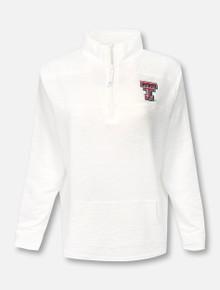 "Vineyard Vines Texas Tech Double T ""Slub Shep"" 1/4 Zip Pullover"