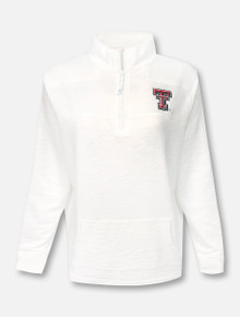 "Vineyard Vines Texas Tech Red Raiders Double T ""Slub Shep"" 1/4 Zip Pullover"