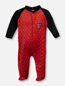 Texas Tech Red Raiders Double T 2 Tone Footed Romper