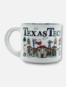Texas Tech Red Raiders Scribbled Multi-Logo Coffee Mug