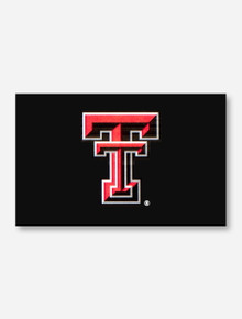Texas Tech Double T Applique Silk Screen Flag