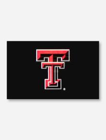Texas Tech Double T Applique Silk Screen Flag