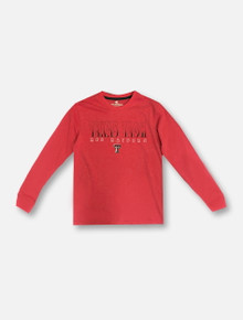 """Arena Texas Tech Red Raiders Double T """"Zort"""" YOUTH Long Sleeve T-Shirt"""