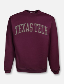 Champion Texas Tech Red Raiders Powerblend Fleece Texas Tech Grey Felt Arch Sweatshirt